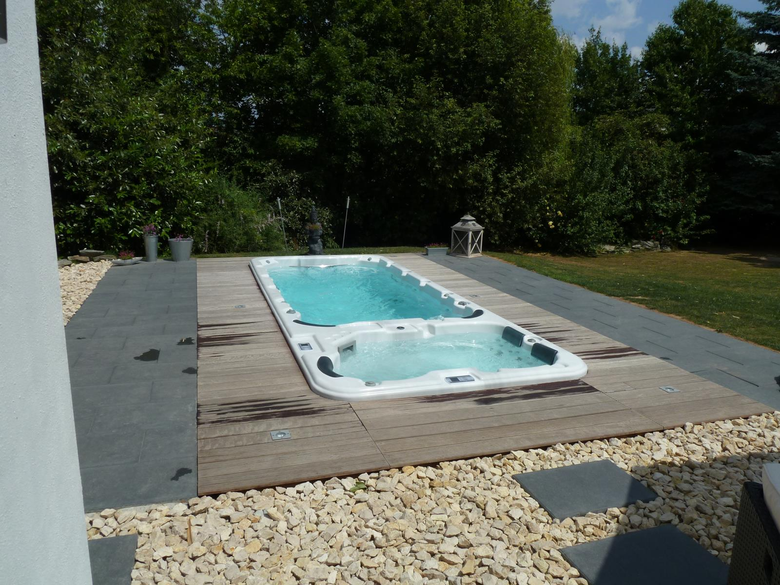 Zwemspa kopen for Zwembad zelf inbouwen